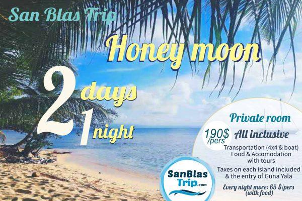 San Blas Panama Tour honey moon